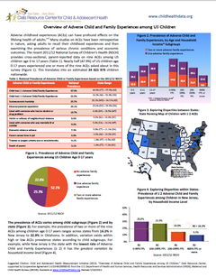 Thumbnail image of Data Resource Center for Child and Adolescent Health Adverse Childhood Experiences Data Brief