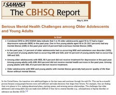 Thumbnail image of Center for Behavioral Health Statistics and Quality short report on serious mental health challenges among older adolescents and young adults