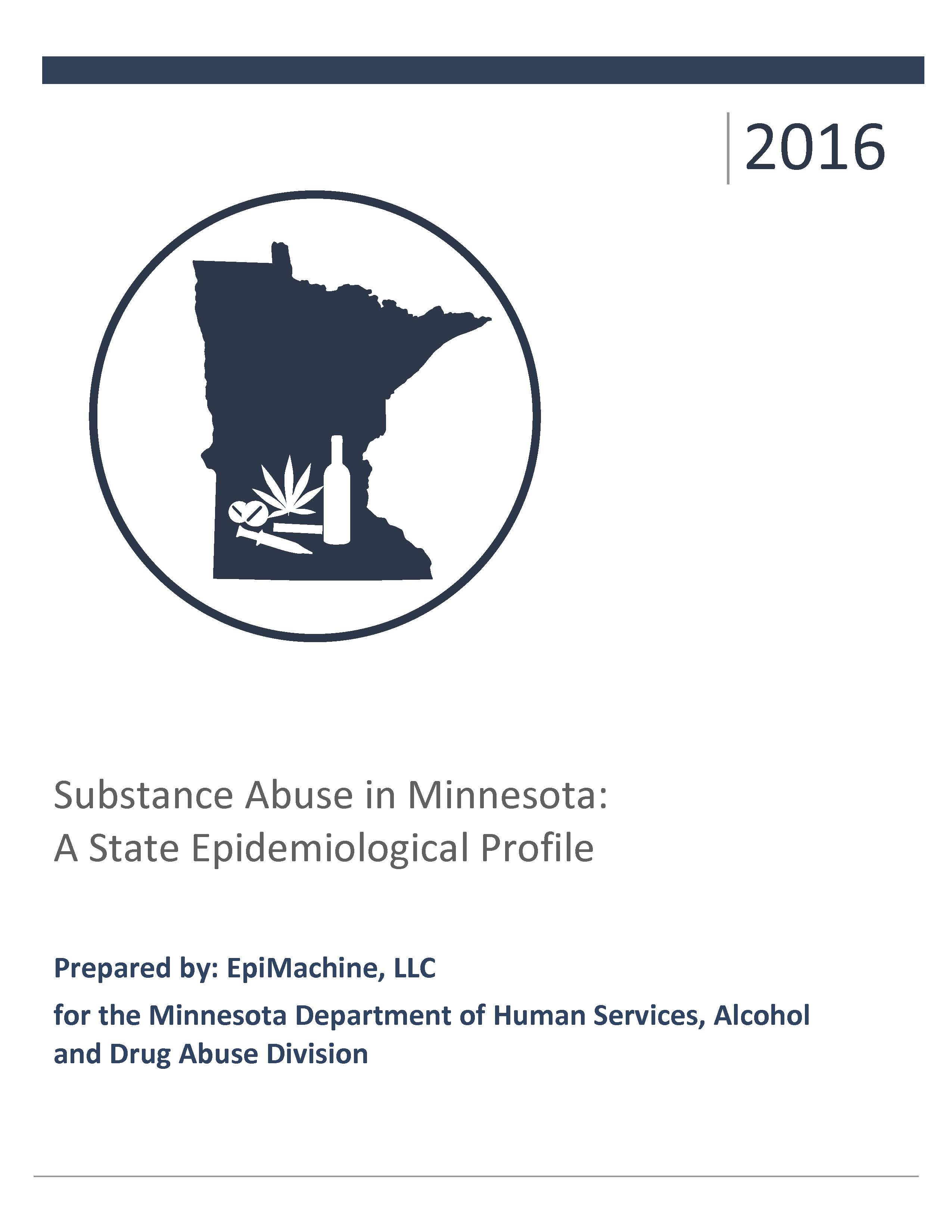 Cover of the 2016 Minnesota State Epidemiological Profile PDF