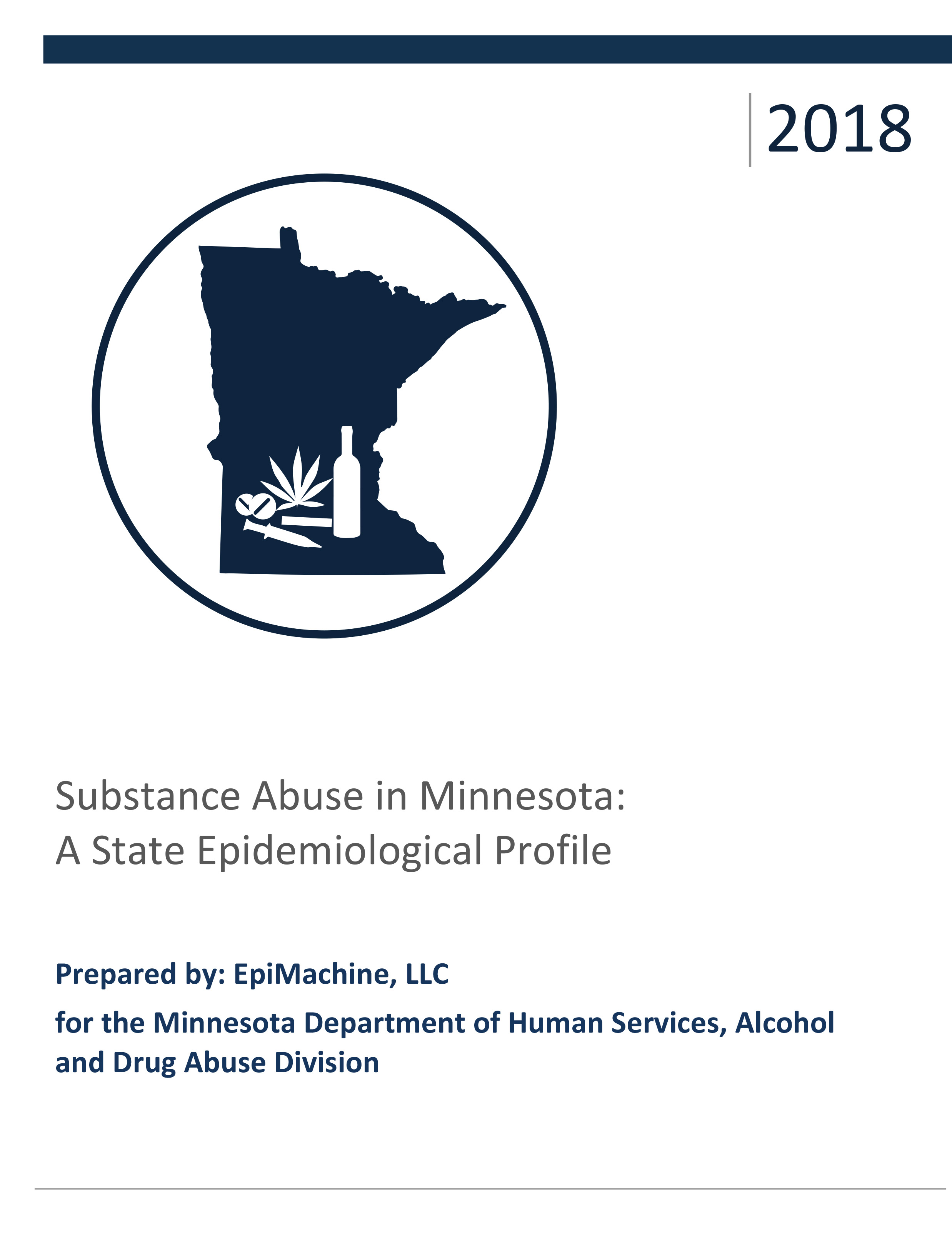 Cover of the 2018 Minnesota State Epidemiological Profile PDF